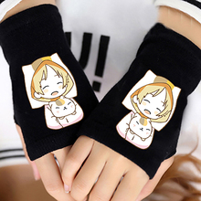 Anime Natsume's Book of Friends Cotton Knit Wrist Gloves Mitten Lovers Anime Accessories Cosplay Fingerless Warm Gloves