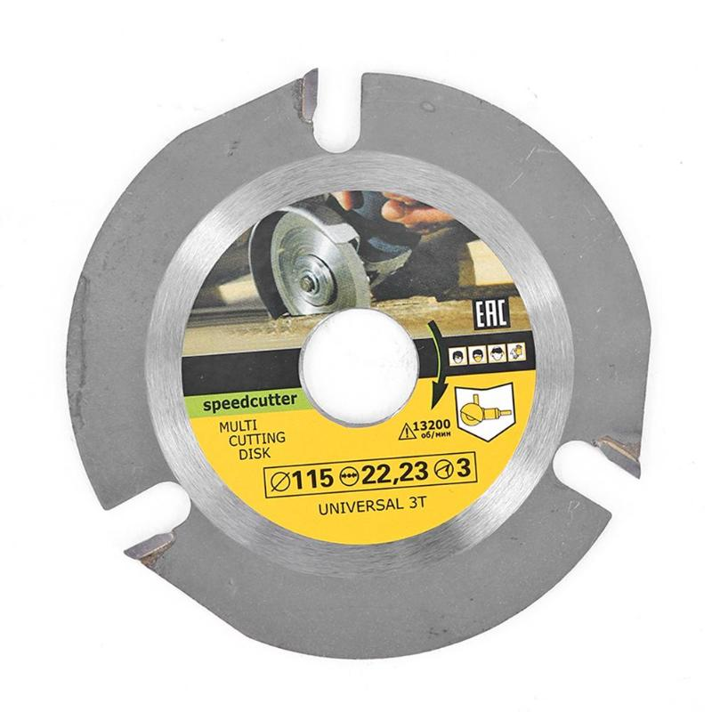 115mm 3T Carbide Circular Saw Blade Cutting Disc Wood Cutting Wheel Multi-functional Grinding Tool