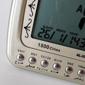 Image 4 - Moslim Klok Islamitische Al Harameen Fajr Tafel Tijd Voor Alle Gebed Met Qibla Kompas Azan Alarm