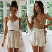 Fashion womens solid color bandage sexy sling button casual shirt nightclub style