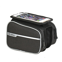 Bicycle Bag Mountain Bike Touch Screen Mobile Phone Bag Black/Gray Polyester grisham john gray mountain