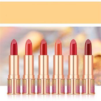 6 Colors Matte Lipstick Lipgloss Nude Makeup Lips Waterproof Long-lasting Easy To Wear Glitter Moisturizing Lip