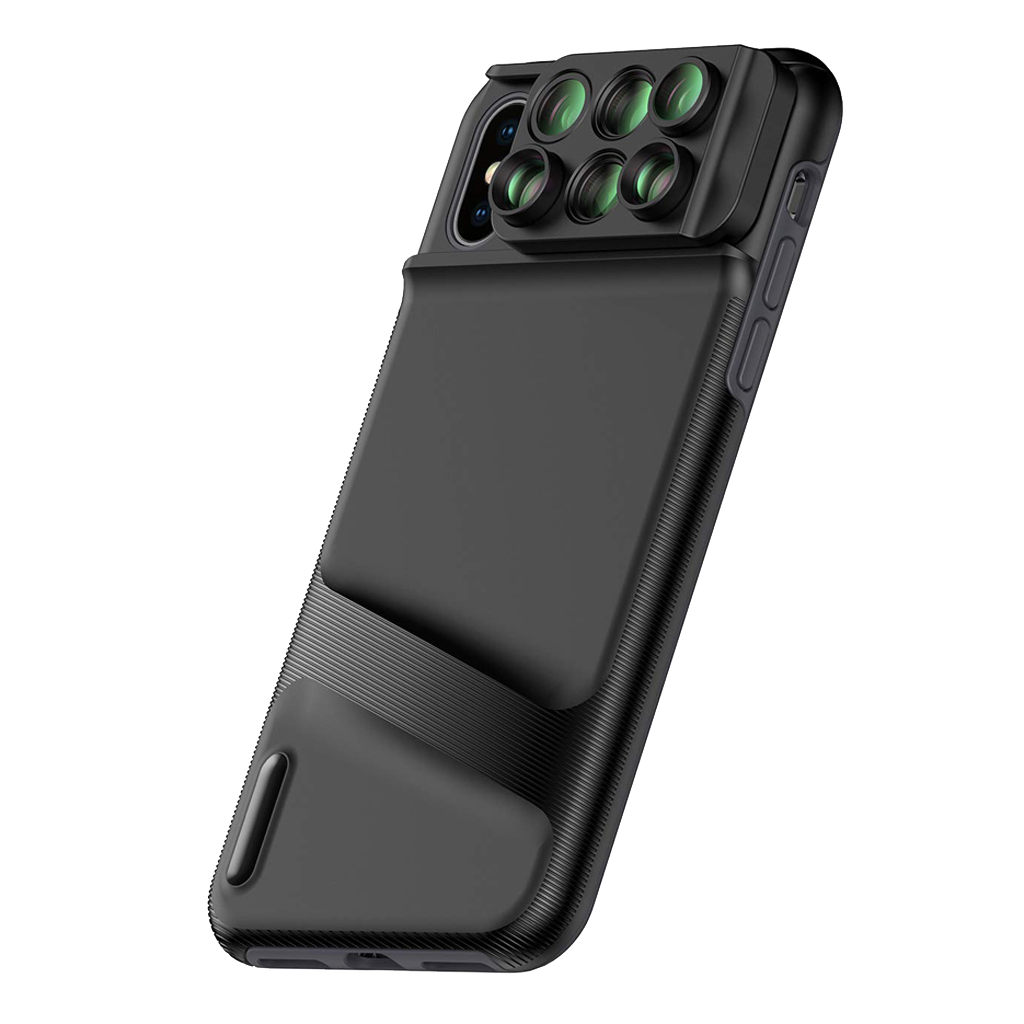 Lovoski Case for iPhone XS Max: 6 in 1 Dual Optics Lens System (Fisheye, Telephoto, Wide angle, Macro), Double Layer Protection