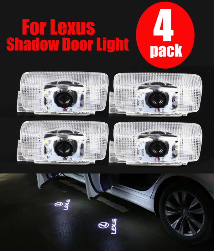 4x Door Courtesy Ghost Shadow Light Welcome Light For Lexus ES IS LS LX RX SC GS GX Laser Logo