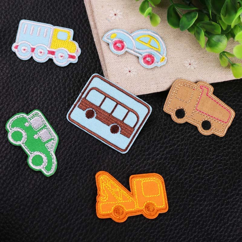 Kuke <font><b>Patches</b></font> Cheap Cartoon Trolley Series <font><b>Bus</b></font> Embroidered <font><b>Patch</b></font> for Clothing DIY Clothes Stickers Iron on <font><b>Patches</b></font> Badges image
