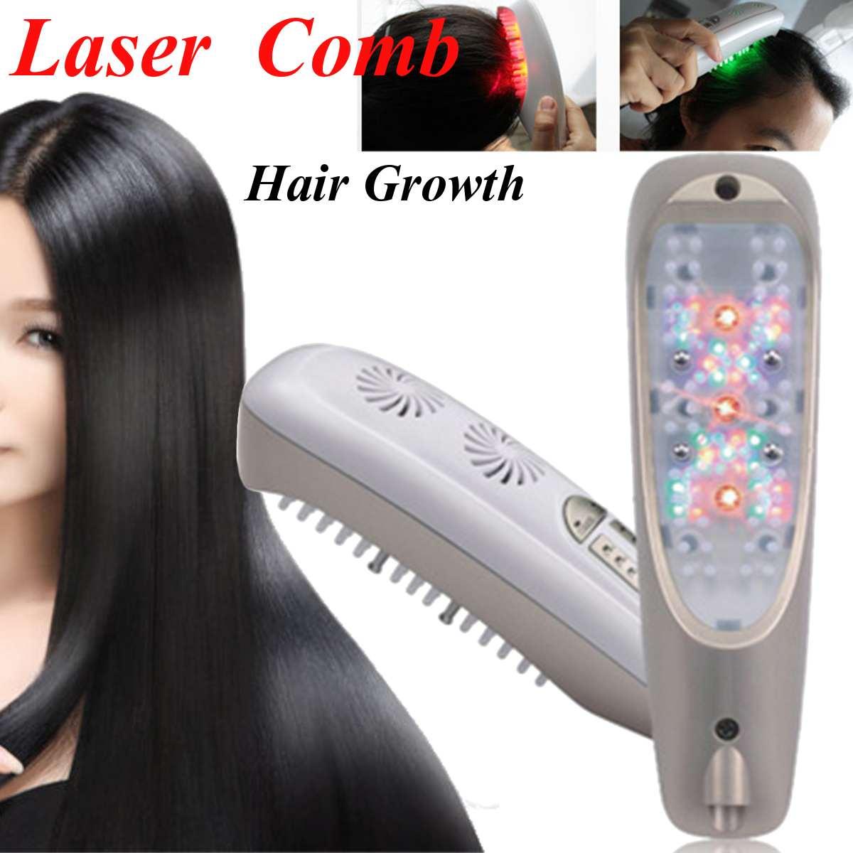 Haar Nachwachsen Laser Kamm Micro Strom für Haarausfall Alopezie Kopfhaut Massage Entfernen Schuppen Dünner Werdendes Haar Gesundheit Reparatur Wachstum