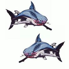 Reflective Car Sticker Shark Pattern Scratch Creative Personality Waterproof Detachable Accessories For Truck Warning