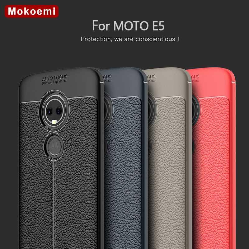 Angepasste Hüllen AnpassungsfäHig Mokoemi Mode Lichee Muster Shock Proof 5,7 für Motorola Moto E5 Fall Für Motorola Moto E5 Plus Telefon Fall Abdeckung Handytaschen & -hüllen