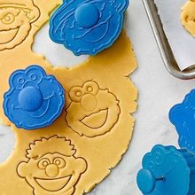 2021 quente venda 3d sésamo rua elmo biscoito cortador de biscoito mão selo imprensa êmbolo cortador molde