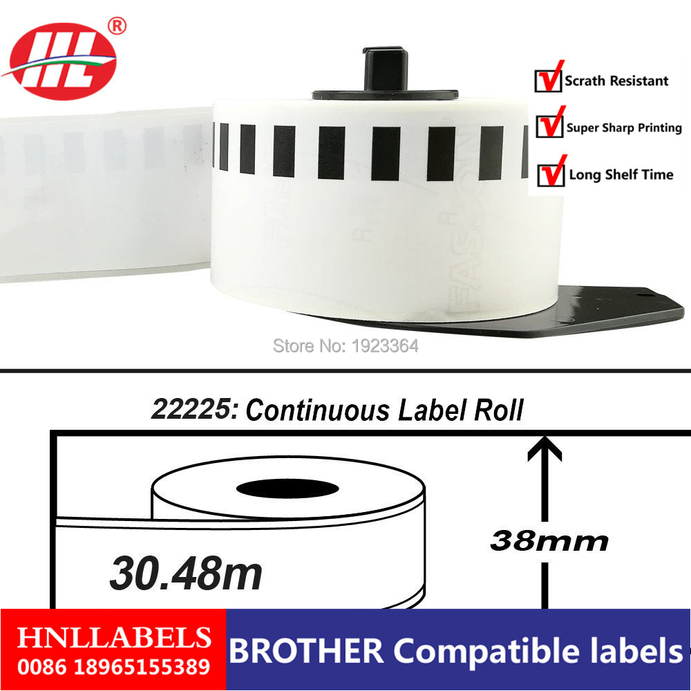 20X Rolls Brother Compatible Labels Dk22225,dk2225, Dk225, Dk 22225 Etiquetas