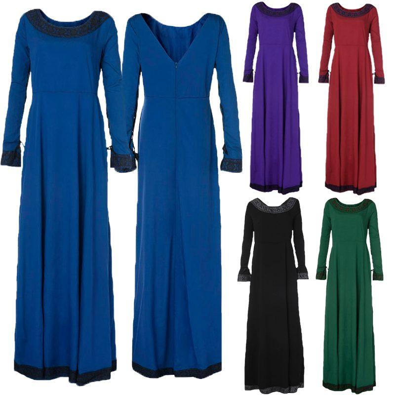 Новое Женское осеннее длинное платье макси с длинным рукавом, элегантное вечернее платье, модное повседневное женское платье, большие 3XL
