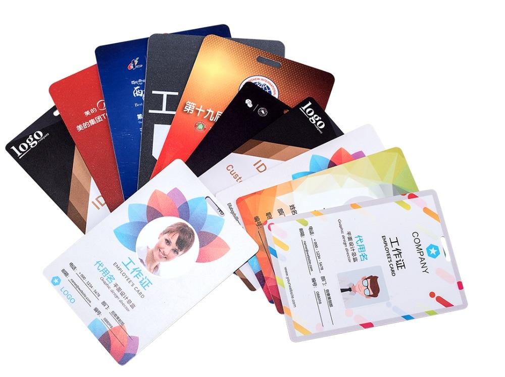 Custom PVC Staff ID Cards Business Plastic Name Card 0.76mm Thickness MOQ 5 Pcs