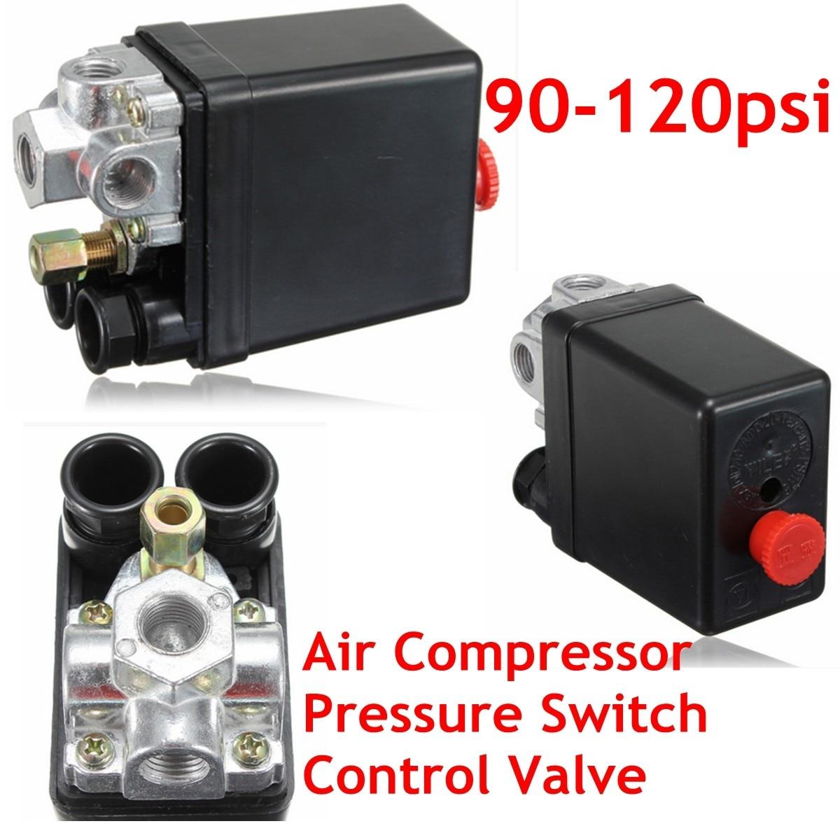 90-120PSI Heavy   Air Compressor Pressure Control Switch Valve 12 Bar 20A AC 220V 4 Port90-120PSI Heavy   Air Compressor Pressure Control Switch Valve 12 Bar 20A AC 220V 4 Port