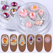1 Box Alloy Nail Art Decorations Crystal Luxury Rhinestone Gems High Quality Mixed Size 3D Nail Jewelry Accessories Tools CH782(China)
