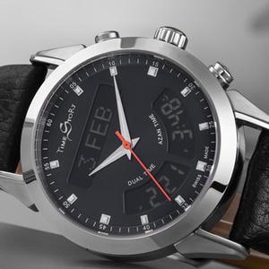 Image 3 - イスラム教徒本物の革ストラップ防水イスラムアザン腕時計男性用時計