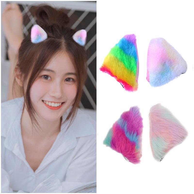 Costume Props 1pair Color Anime Cat Ears Hair Clips Cosplay Character Dress Up Novelty Dress Party Dance Sweet Fox Ear Hair Clip Moderate Price