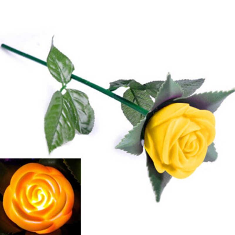 Rose โรแมนติกกลางแจ้ง Yard Garden เส้นทาง Tulip Bar ภูมิทัศน์ดอกไม้ไฟตกแต่งของขวัญของเล่น