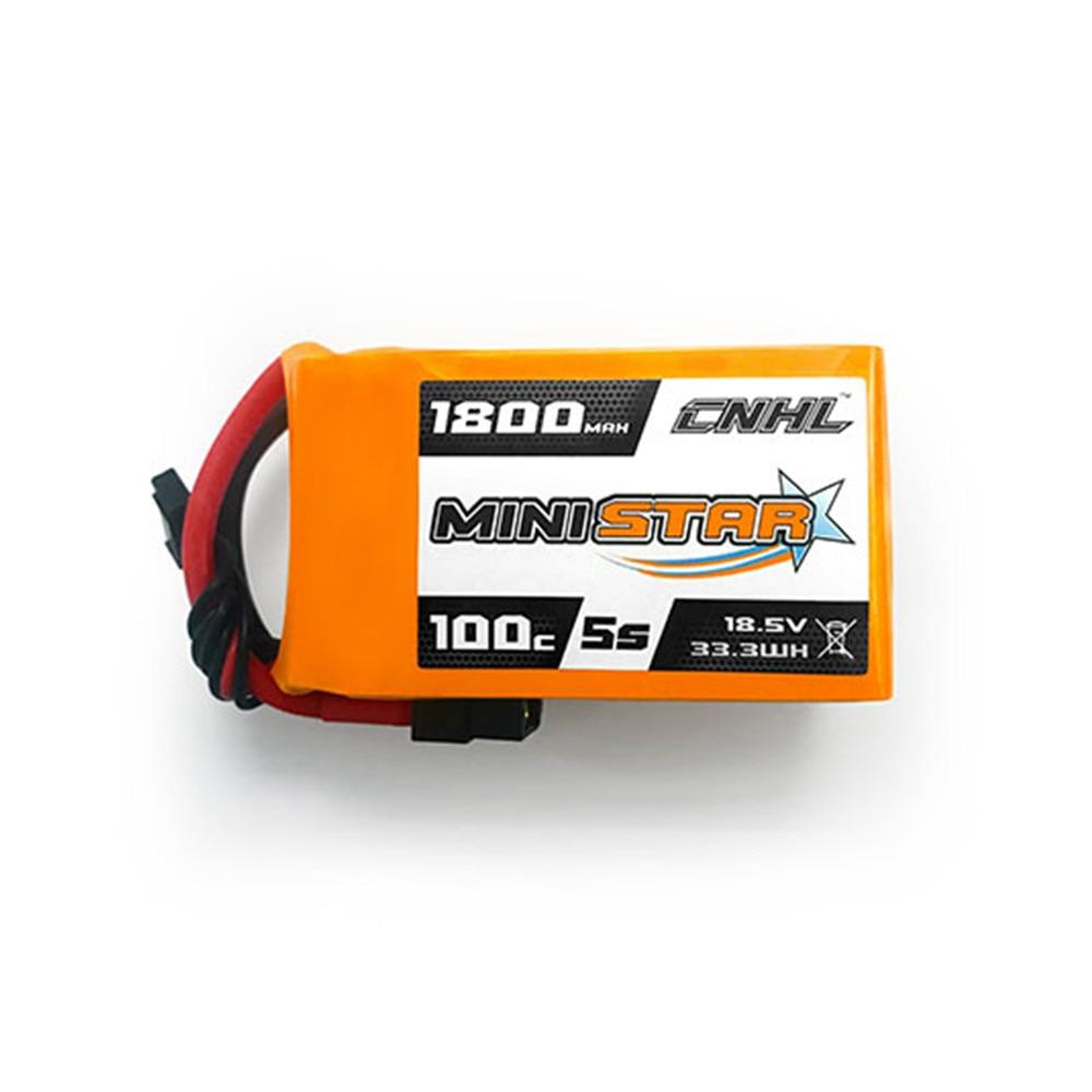 CNHL MiniStar 5 S 18.5 V 1800 mAh 100C batterie Lipo avec prise XT60 pour Drone RC FPV Racing