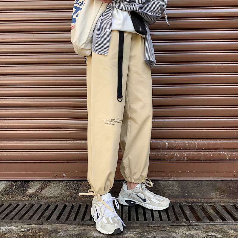 Pants Men Loose Joggers Casual Trousers Streetwear-Trend Fashion New Hip-Hop Man Spring