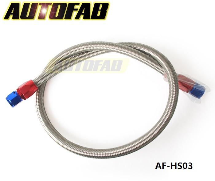 autofab-an8 имеют-0 универсальный топлива/масляный шланг комплект из нержавеющей стали плетеный шланг 1 метр ж/монтаж АФ-hs03