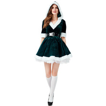 Christmas Costume Women Green Santa Cosplay For Adult
