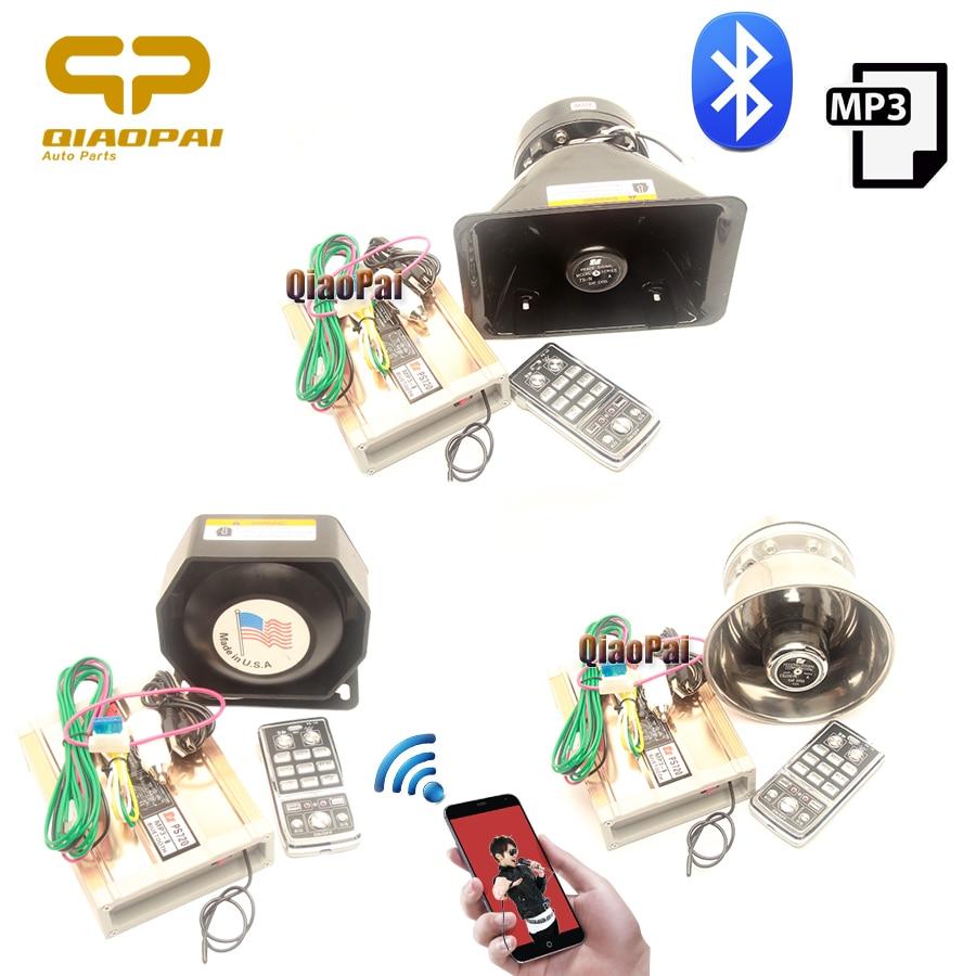 Police Siren for Car Alarm USB Mp3 Bluetooth Amplifier Alarm Wireless 200W Siren Speaker Auto Horn
