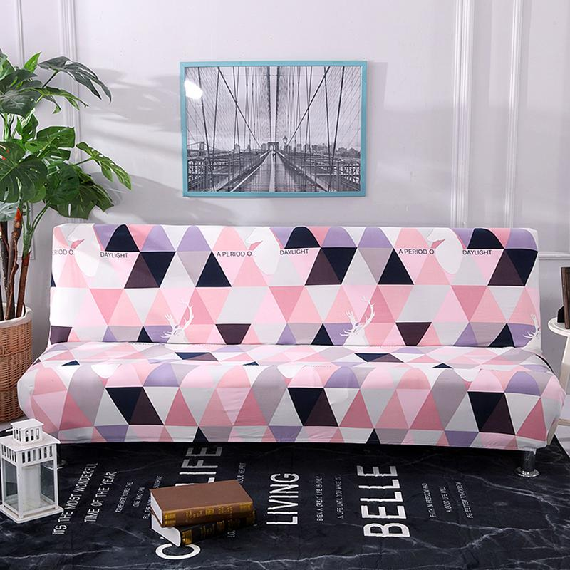Sofa Cover No Armrest Stretch Slipcover All-Covered Folding Sofa Bed Cover Bed Fitted Sheet Universal Cover Sofa Towel #SO