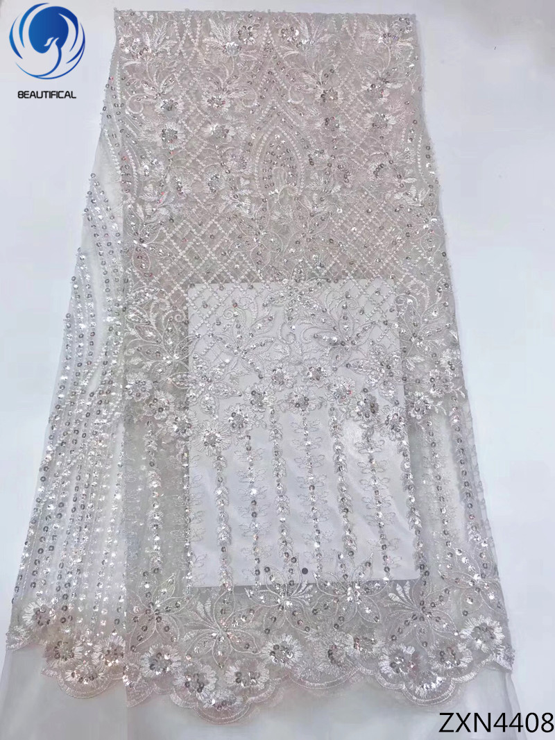 Beautifical lace african net lace fabric with sequins 2018 sequins tulle lace high quality dresses for wedding 5yards/lot ZXN44Beautifical lace african net lace fabric with sequins 2018 sequins tulle lace high quality dresses for wedding 5yards/lot ZXN44