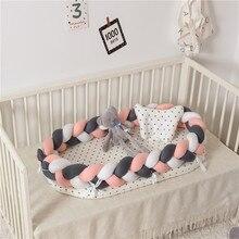 Детские Гнездо кроватки с Бампер детская кроватка бампер кровать Portector путешествия кровать для малышей хлопок Колыбель для новорожденных детская кроватка