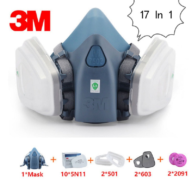 Workplace Safety Supplies Amiable 17 In 1 3m 7502 Gas Mask Half Face Respirator Industrial Carpentry Graffiti Protection Respirator Dust Mask 2091 Filter/603/5n11