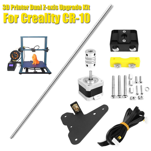 Cheap DIY 3D Printer Parts For Creality CR-10 3D Printer Part Stepper Motor+Screw Bracket+Lead Screw+Z Coupler+Double Z Stepping Cable