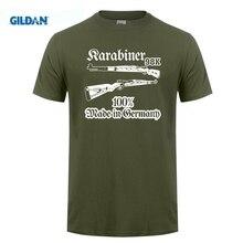 GILDAN On Sale  Summer Print T Shirt Men Karabiner 98K Deko Waffe Gewehr Deutschland Sniper 100% Cotton T-Shirts