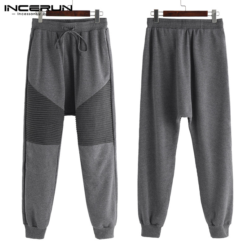 INCERUN Sweatpants Men Clothing Fitness Joggers Loose Hiphop Workouts Winter Baggy Men's