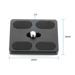Image 3 - BGNing PU50 Quick Release Plate Tripod Ball Head Monopods with 1/4 inch Screw Universal for Benro Arca Swiss Tripod Ballhead