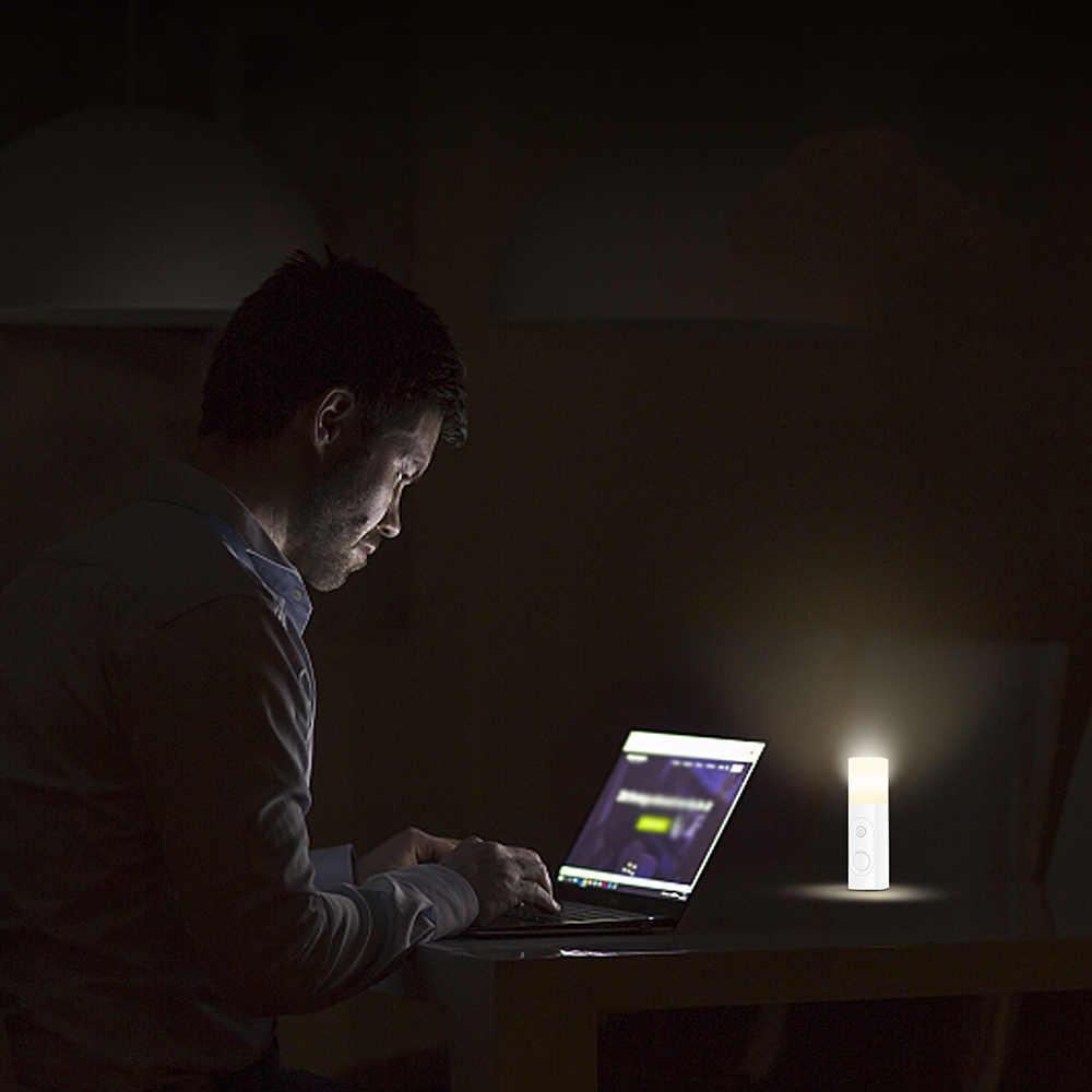 2019 sensor de luz 3.7 v 0.6 w lâmpada noite carregamento usb lâmpada mesa lâmpada cabeceira pir sensor movimento luz da noite para crianças leitura