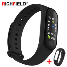 M3 Plus Smart Band Fitness Tracker Smart Bracelet Blood Pressure Heart Rate monitor Smart Watch Health Wristband For IOS Android все цены