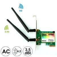Ubit AC 1167 Мбит/с 8260 Bluetooth 4,2 беспроводная сетевая карта, 802,11 wifi карта, 5Ghz-867Mbps/2.4Ghz-300 Мбит/с сетевая карта для ПК