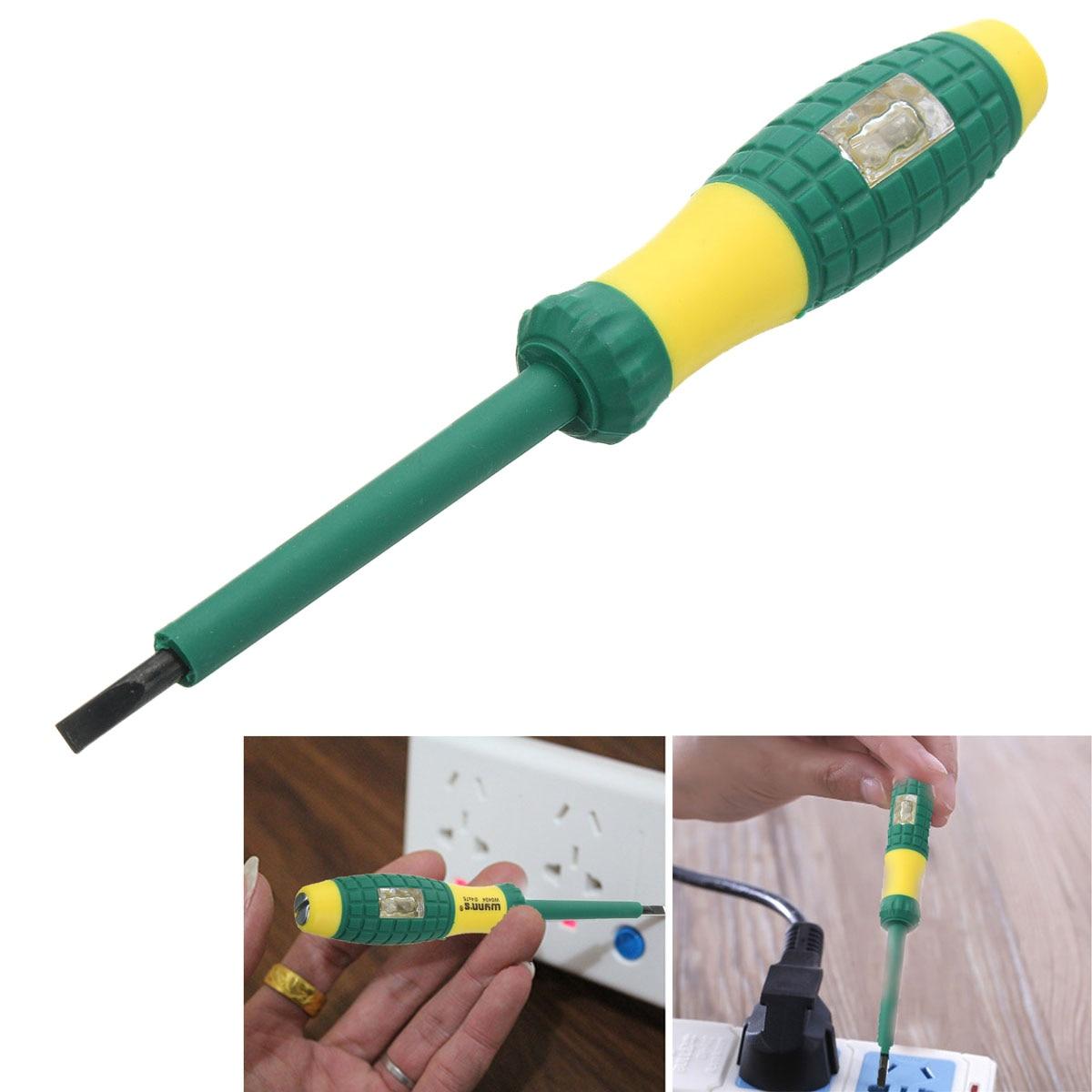 220V Electrical Tester Pen Screwdriver With Voltage Power Indicator Light-Shape