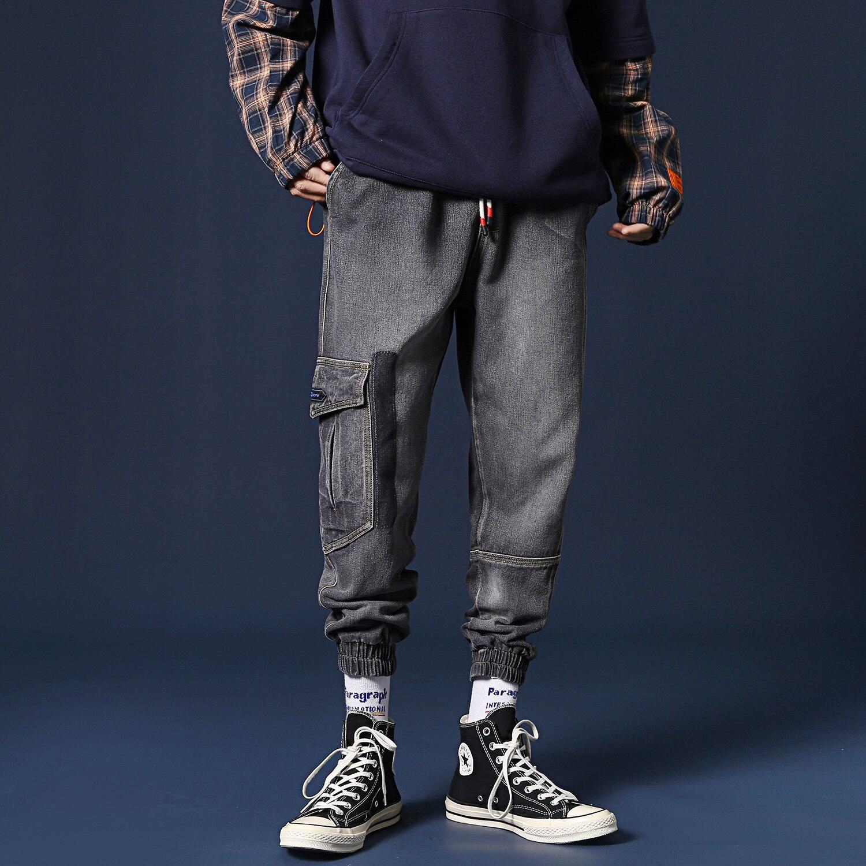 Jeans M-5XL Degli Blu/nero