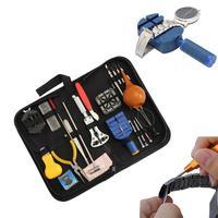 22 stks/set Professionele Horloge Reparatie Tool Kit Horlogemaker klok Opener Link Remover Spring Bar Set met Draagtas