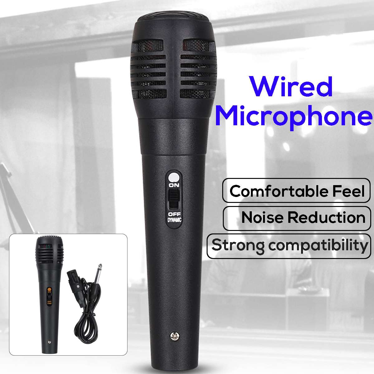 Handheld Wired Microphone Uni-directional Dynamic Professional Stereo Studio Speech Mic Audio For Karaok