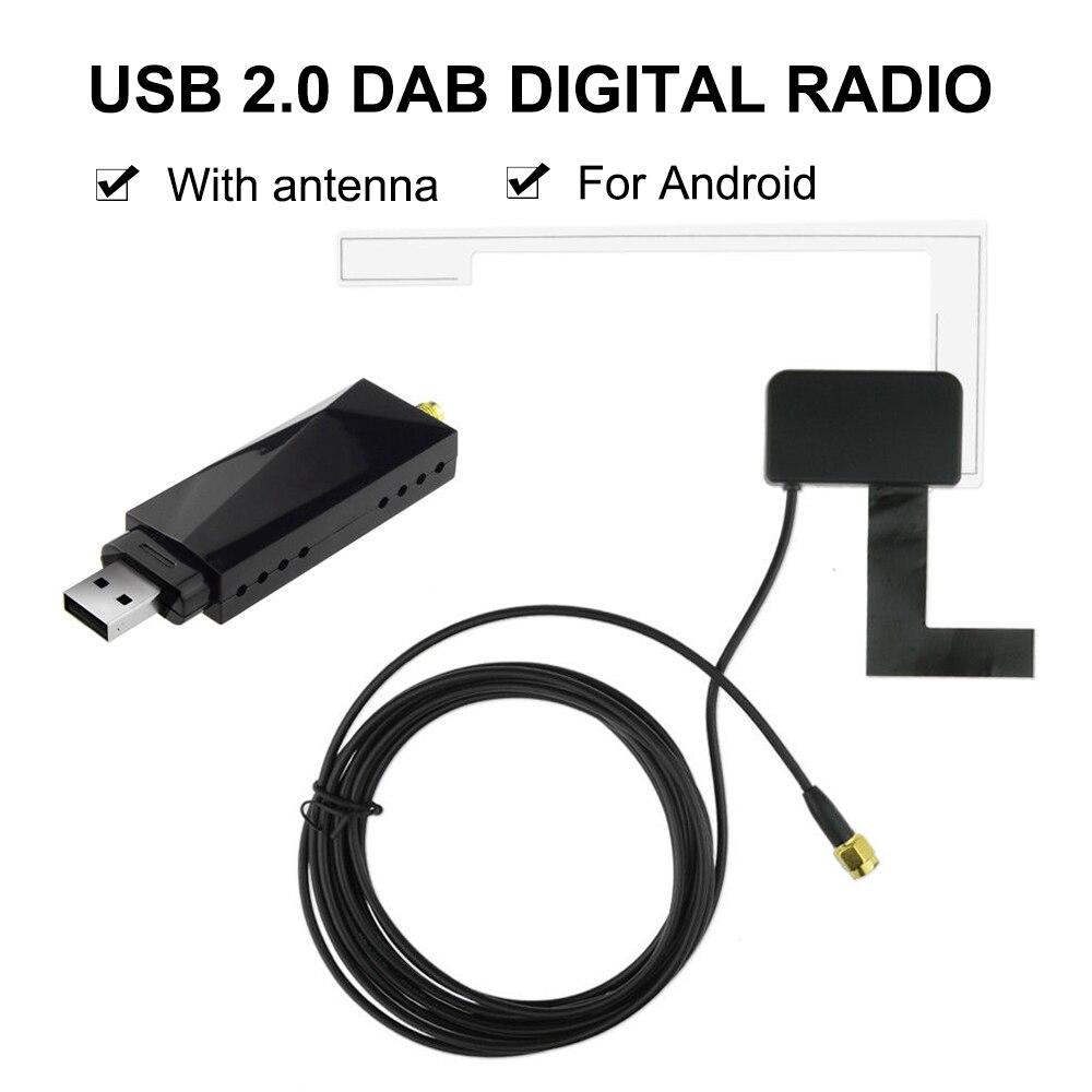 DAB автомобильный Радио тюнер приемник коробка USB палка антенна USB ключ цифровой аудио вещания для Android