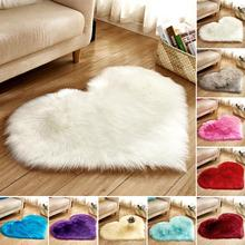 Lovely Sweet Love Heart Shape Carpet Faux Fur Antiskid Doormats Floor Rugs Decor for Bedroom Kitchen Living Room #125