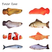 Plush Catnip Cat Toy 3D Fish Shape Toys For Cats Simulation Cute Creative Cat Scratcher Posts Toy Fish Sleep Pillow Cat Supplies цена