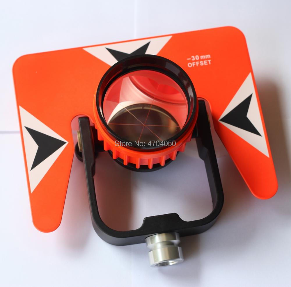 Brand New Red Single Prism Reflector Set With Soft Bag For Pentax Nikon Topcon Total Station Surveying