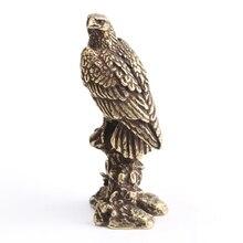 Китайская архаизма Орел маленькая статуя ценная коллекция красивых Бронзовых Статуй