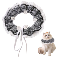 Fashion Adjustable Pet Dog Cat Neck Scarf Tie Bib With Bell Cute Lace Bandana Collar Neckerchief Decor Accessories