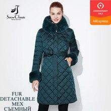 Snow Classic Women Jacket Coat Fur Winter Long Parka Woman Quilted Coat Female W