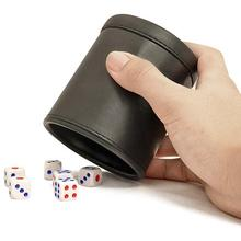 Высококачественный KTV бар PU пластиковый стаканчик для игральных костей настольная игра кружки для встряхиваний настольная игра черный