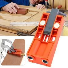 Регулируемые карманные отверстия джиг Деревообрабатывающие инструменты ABS Пластиковый материал сочетается с износостойким металлическим сверлом рукав пробивные инструменты